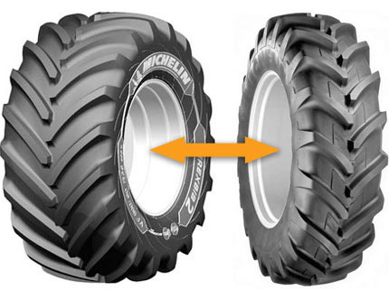 tableau d 39 quivalence entre les pneus agraires. Black Bedroom Furniture Sets. Home Design Ideas